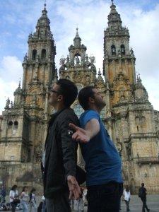David y servidor en Santiago! :D